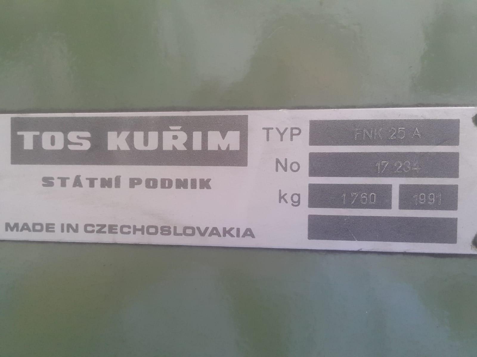 TOS KURIM FNK 25 A